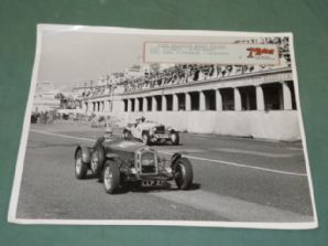 "ALFA ROMEO MONZA / MERCEDES SS Brighton Speed Trial 1953 10X8"" period photo"